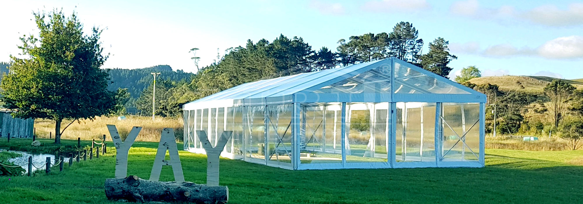 Outdoor transparent marquees