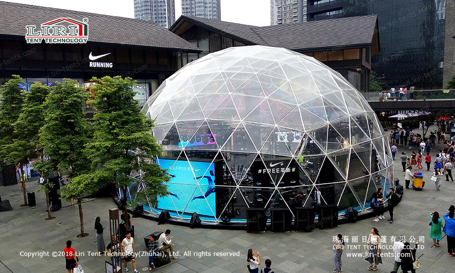 clear dome marquee